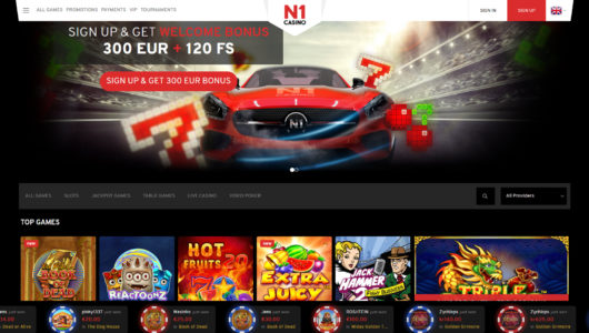 N1 Casino Screenshot