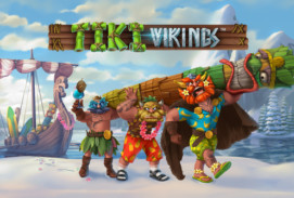 Tiki Vikings Slot Logo
