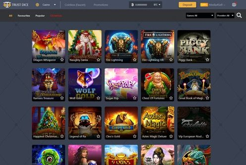 TrustDice Casino Games