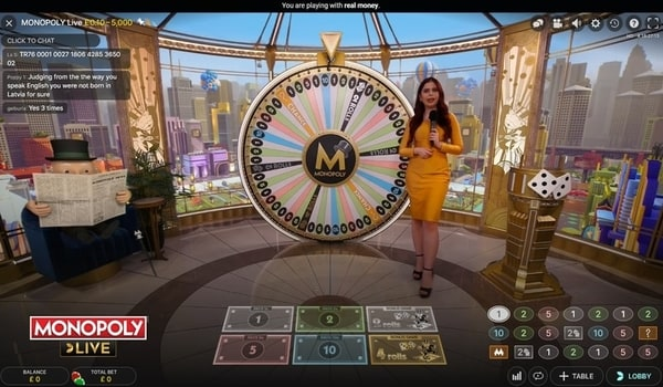 Monopoly Live by Evolution Gaming