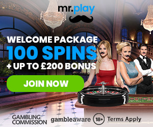 100 Spins + Up to £200 Bonus